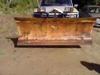 """fisher plow 8 feet long and 35"""" high"""