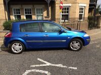 2003 RENALT MEGANE 5 DOOR HATCHBACK, 1600CC ENGINE, ALLOYS, EXCELLENT CAR, LONG MOT.