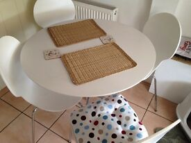 Lovely white table with 4 chairs from Marks & Spencer