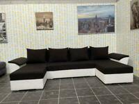 U shape corner sofa bed with storage