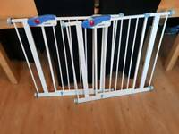 Pair of extra wide Lindam stair gates