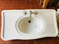Console Porcelain Bathroom Sink