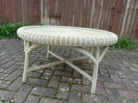 Round Wicker Coffee Table - Lloyd Loom Style.