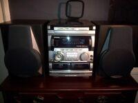 Aiwa compact disc/radio/tape stereo system NSX-AV720
