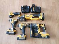 Dewalt set of 5 and 2 chargers and 3 x4ah batteries and 1 x 5ah battery
