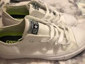 Brand new converse trainers in white