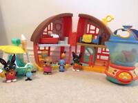 Bing toy bundle - gillys ice cream van, Brenda the blender and Bings house