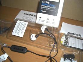 SHURE SE215 Wireless Sound Isolating Bluetooth Earphones NEW