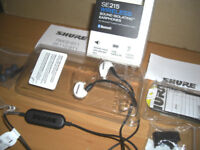 SHURE SE215 Wireless Sound Isolating Bluetooth Earphones NEW