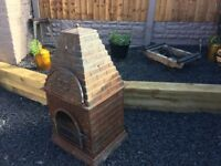 Bespoke Country House Cast Iron Chimenea / Log Burner Heavy Item- DELIVERY AVAILABLE
