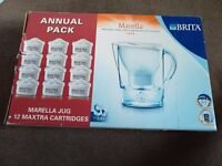 BRITA Marella Water Filter Jug White 2.4L and 12 Maxtra Cartridges