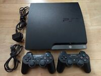 Sony PS3 Playstation Slim 250gb - with 2 controllers