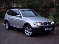 AA WARRANTY!! 2004 BMW X3 2.5 i SE 5dr AUTO, 4x4 FULL LEATHER, 1 YEAR MOT, PARKING SENSORS,
