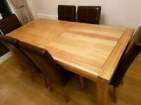 6ft extendable solid oak table