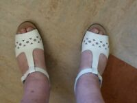 Hotter sandals white size 7