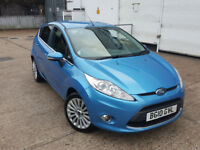 AUTOMATIC ford fiesta 2010 . 5 door. 1 year mot . 59 k miles. parking sensors. fully loaded model