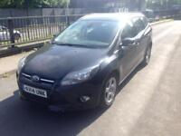 2014 14reg Ford Focus 1.6 tdci Zetec navigator Black Estate