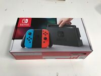 Nintendo Switch, Brand new in unopened box with 1-2 switch game £350 ONO