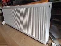 Large Double Panel Radiator - White - Plus thermostatic valve