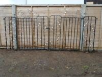 Driveway garden gate double gates
