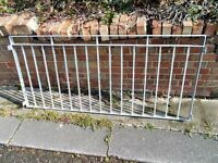 4 NEW IRON RAILINGS--£125--30inches high X 67inchs long with fixing brackets