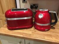 KitchenAid Artisan kettle and toaster