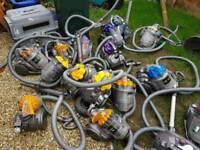 Job lot of Dysons vacuum cleaners