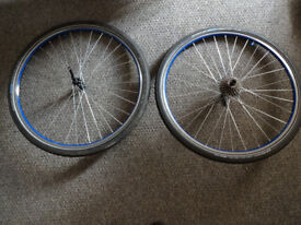 Merida Hybrid bike wheels with Schwalbe Marathon Plus 700x38C