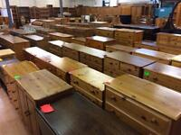 Solid wood / pine wardrobe, chest of draws & more