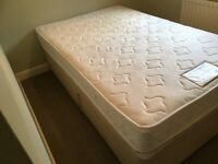 Small Double Divan Bed with Mattress