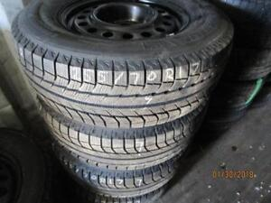 255/70R17 SET OF 4 MICHELIN TIRES ON CHEV PICK UP STEEL RIMS