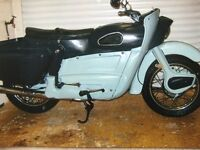 Classic Ariel Leader 1961 mot till Jan 2018 sold as project loads of new ideas parts fitted,