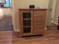 Media / Storage cabinet. Oak Furnitureland. Excellent condition.