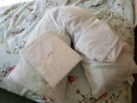 V-Shaped Pillow with Pillowcase & BNIP 2nd Pillowcase
