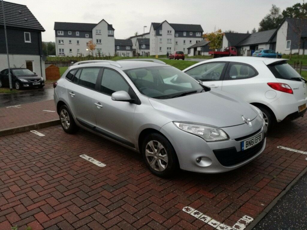 Renault Megane Estate, 1.5dCi 6 speed manual. 12 months MOT. FSH. £20 a year road tax.