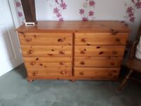 Large real wood chest of drawers