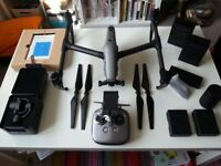 DJI Inspire 2 - full bundle with Zenmuse X4S Camera and 4 batteries.