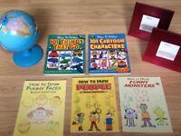 Bundle (Globe, How to Draw Books, Photo Frames)