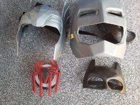 Avenger Thor and batman helmets spiderman top tshirt badge