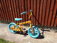 Child bike, tiger design. Solid rubber tyres no problem with punctures. Good condition.