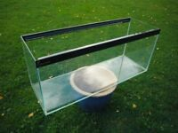 Large Clear-Seal glass tank 36in long x 12in deep x 15in high