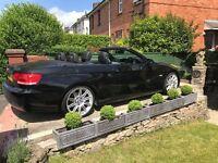 2007 BMW 325i M SPORT CONVERTIBLE, BLACK, FSH, 12 MONTHS MOT