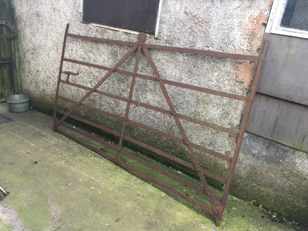 Old vintage blacksmiths garden gate