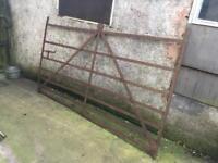 Old vintage blacksmiths garden gate