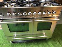 Lovely Britannia range cooker Double oven Extractor hood & splashback. INC VAT