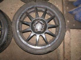 "Subaru Impreza 17"" Speedline Turini Alloy Wheels & Tyres 5X100"