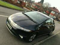 2007 HONDA CIVIC I-CTDI 5 DOOR TOP SPEC 2.2 TURBO DIESEL 13 MONTHS MOT