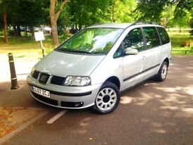 Only 49500 Mile Seat Alhambra 2008,Diesel Fully Service History,7 Seat,Excellent Engine gBox Sharan