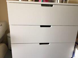 IKEA Nordli chest of 3 drawers white