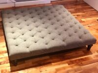 Large Grey Chesterfield ottoman / footstool / coffee table
